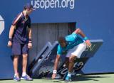 Монфис сломал часы во время матча на US Open