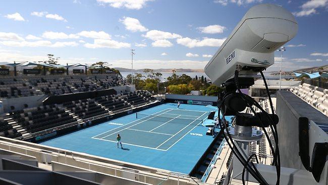 Видеокамера системы Hawk-eye в Domain Tennis Centre (Австралия). Изображение: Sam Rosewarne