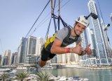 Григор Димитров прокатился на тарзанке между двумя небоскребами в Дубае
