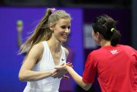 В рамках турнира St. Petersburg Ladies Trophy прошел шоу-матч легенд тенниса