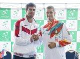 Хачанов принес первое очко сборной России в матче с белорусами в Кубке Дэвиса