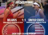 Финал Кубка Федерации. После первого дня в матче Белоруссия – США ничья