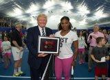 Серена Уильямс сыграла в теннис с Дональдом Трампом