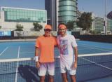 Федерер тренируется с Эрнесто Эскобедо в ОАЭ