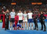 """Джокович, Федерер и Возняцки приняли участие в """"Детском дне"""" Australian Open"""