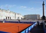 На Дворцовой площади сыграли в теннис