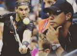 Тайгер Вудс пришёл поддержать Рафаэля Надаля на US Open