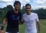Хачанов в Галле провел тренировку с Федерером