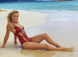 Каролин Возняцки снялась для Sports Illustrated в купальнике из краски
