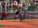 Джокович тренируется в Риме с двухлетним сыном