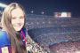 "Дарья Касаткина на стадионе ""Камп Ноу"", на котором играет ФК ""Барселона"""