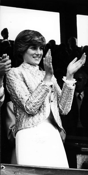 Леди Диана Спенсер на Уимблдоне, 3 июля 1981.