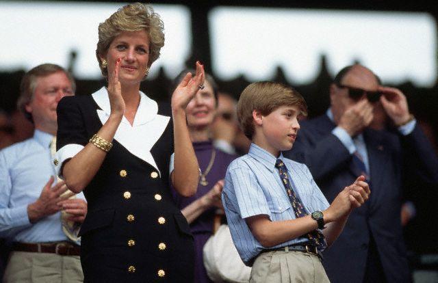 Принцесса с сыном Уильямом на женском финале Уимблдона в 1994.