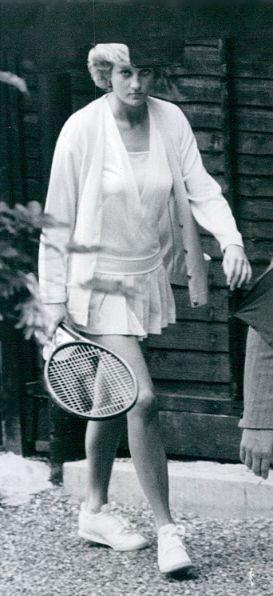 После теннисной тренировки в Vanderbilt Racquet Club, Лондон, 1988.
