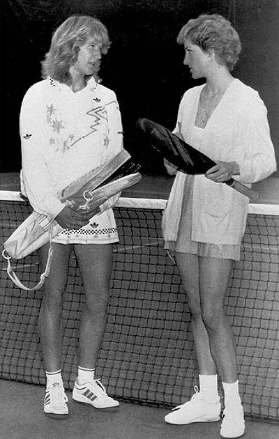 Принцесса Диана и Штеффи Граф, 1988 год, the Vanderbilt Raсquet Club, London.