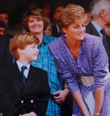 Диана с сыном на Уимблдоне