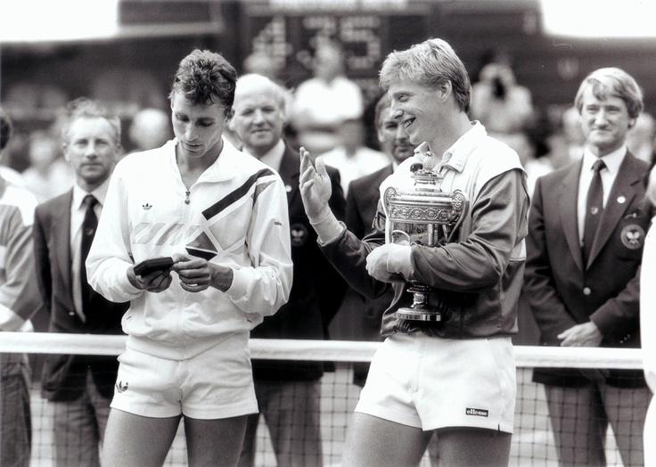 Иван Лендл и Борис Беккер — Уимблдон, 1986 год.