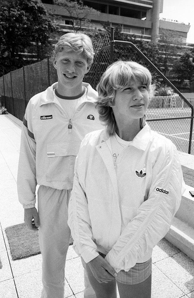 Борис Беккер и Штеффи Граф. Интересно, сколько им тут лет?