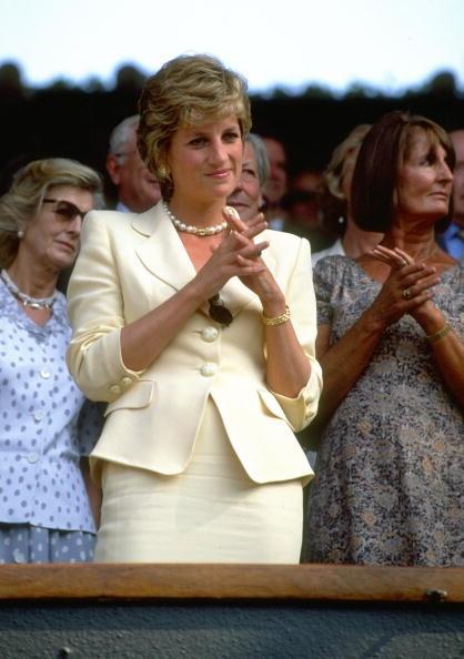 Одна из последних фотографий Дианы с Уимблдонского турнира, 1995 год.