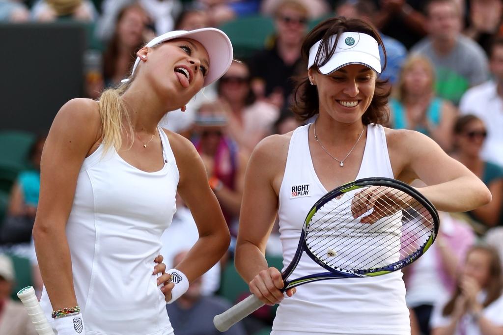 Анна Курникова и Мартина Хингис / Фото: Getty Images