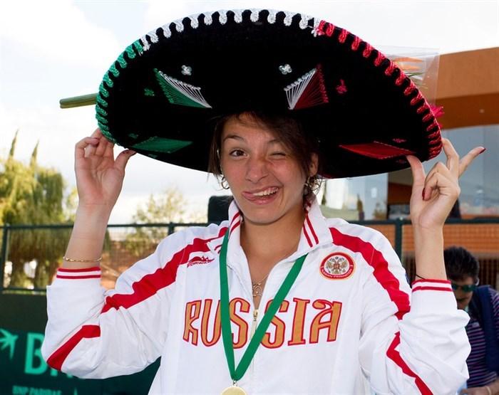 Маргарита Гаспарян перед финалом Кубка Федерации-2013 / Фото: Susan Mullane
