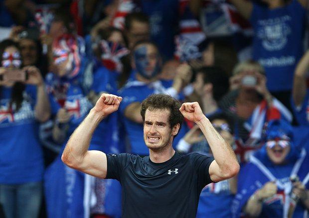 Эмоции переполняют Энди Маррея после победы в финале Кубка Дэвиса в ноябре прошлого года. Фото: Andrew Milligan/PA