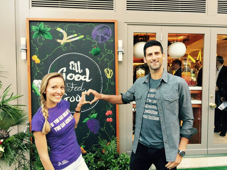 Новак и его жена Елена владеют рестораном здоровой еды Eqvita
