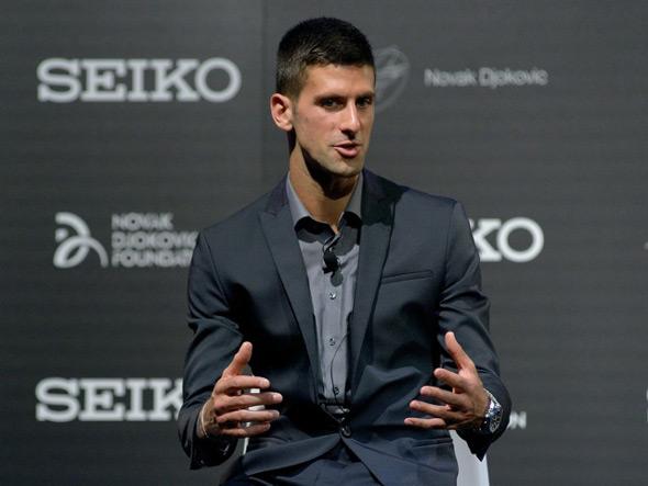 Новак Джокович является лицом часовой компании SEIKO