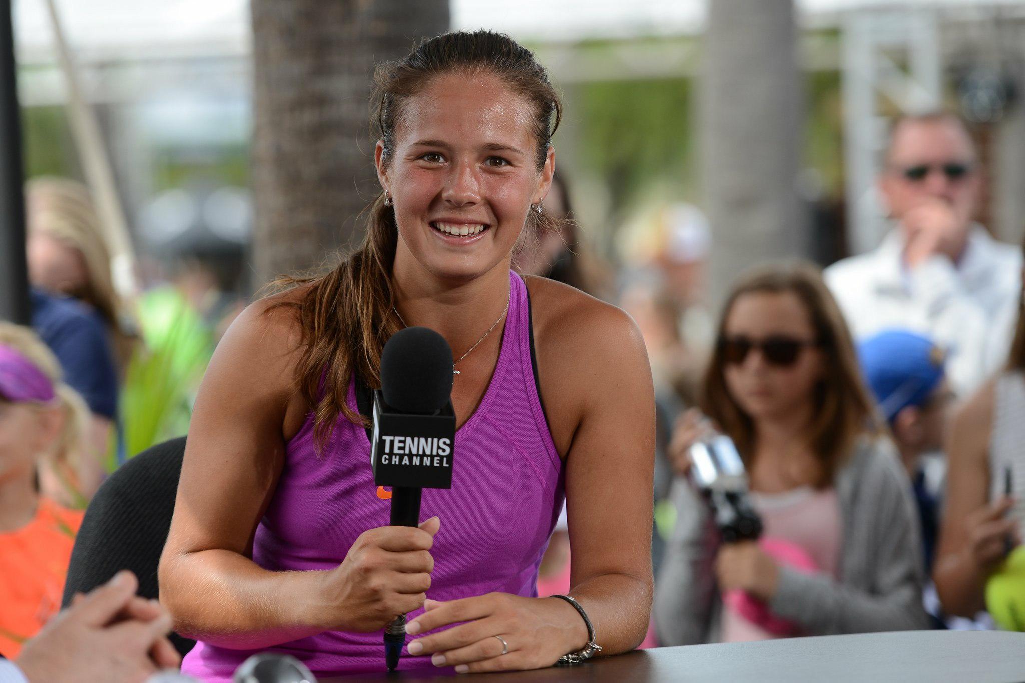 Дарья Касаткина дает интервью после победы на турнире в Чарльстоне