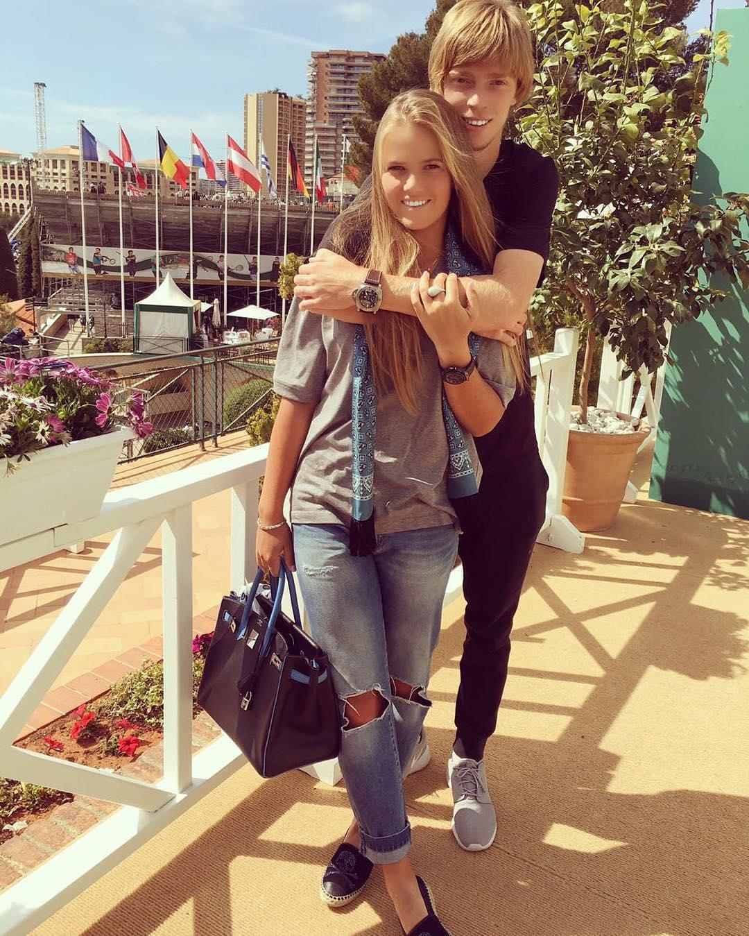 Андрей Рублев со своей девушкой в Монте-Карло
