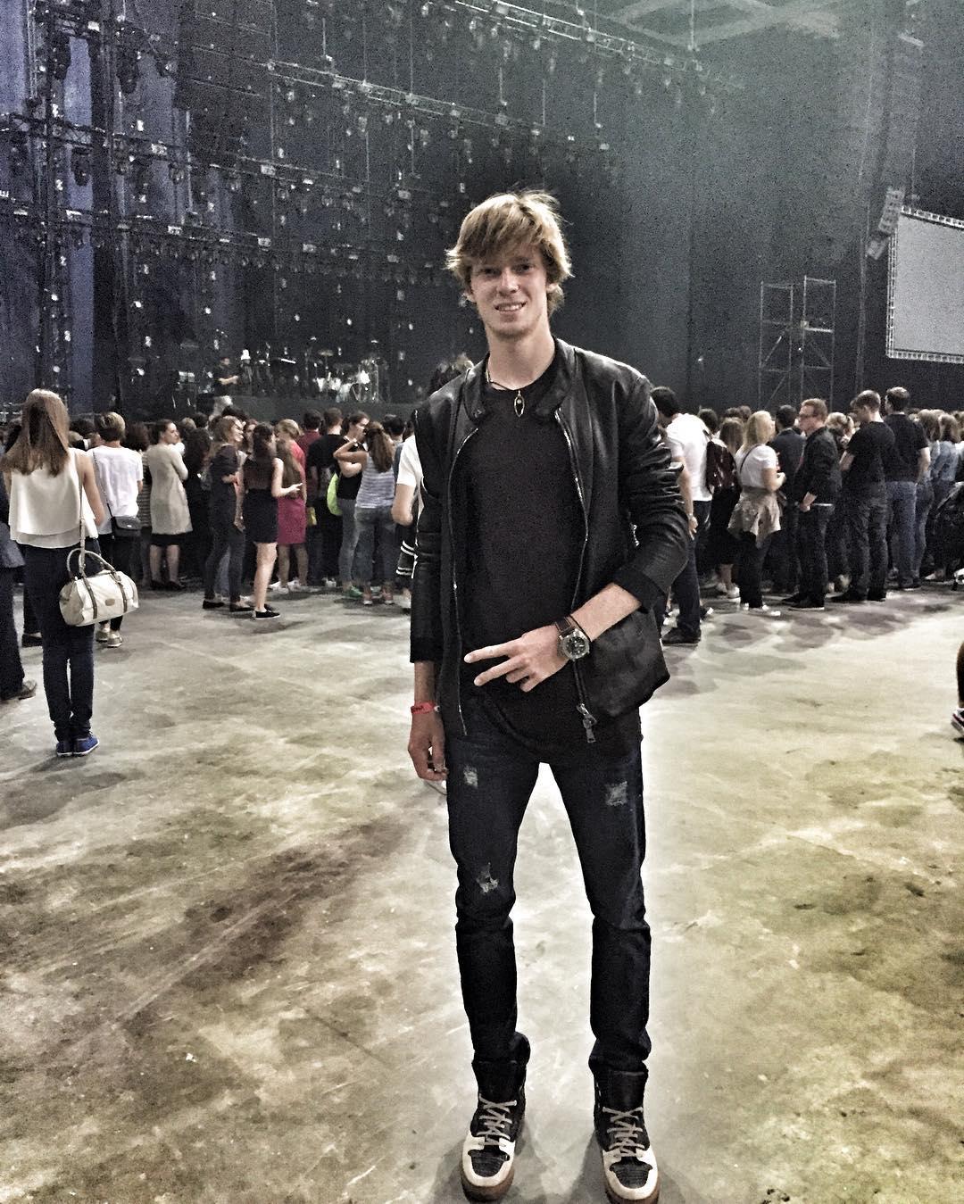 Андрей Рублев на концерте Maroon 5 в Москве