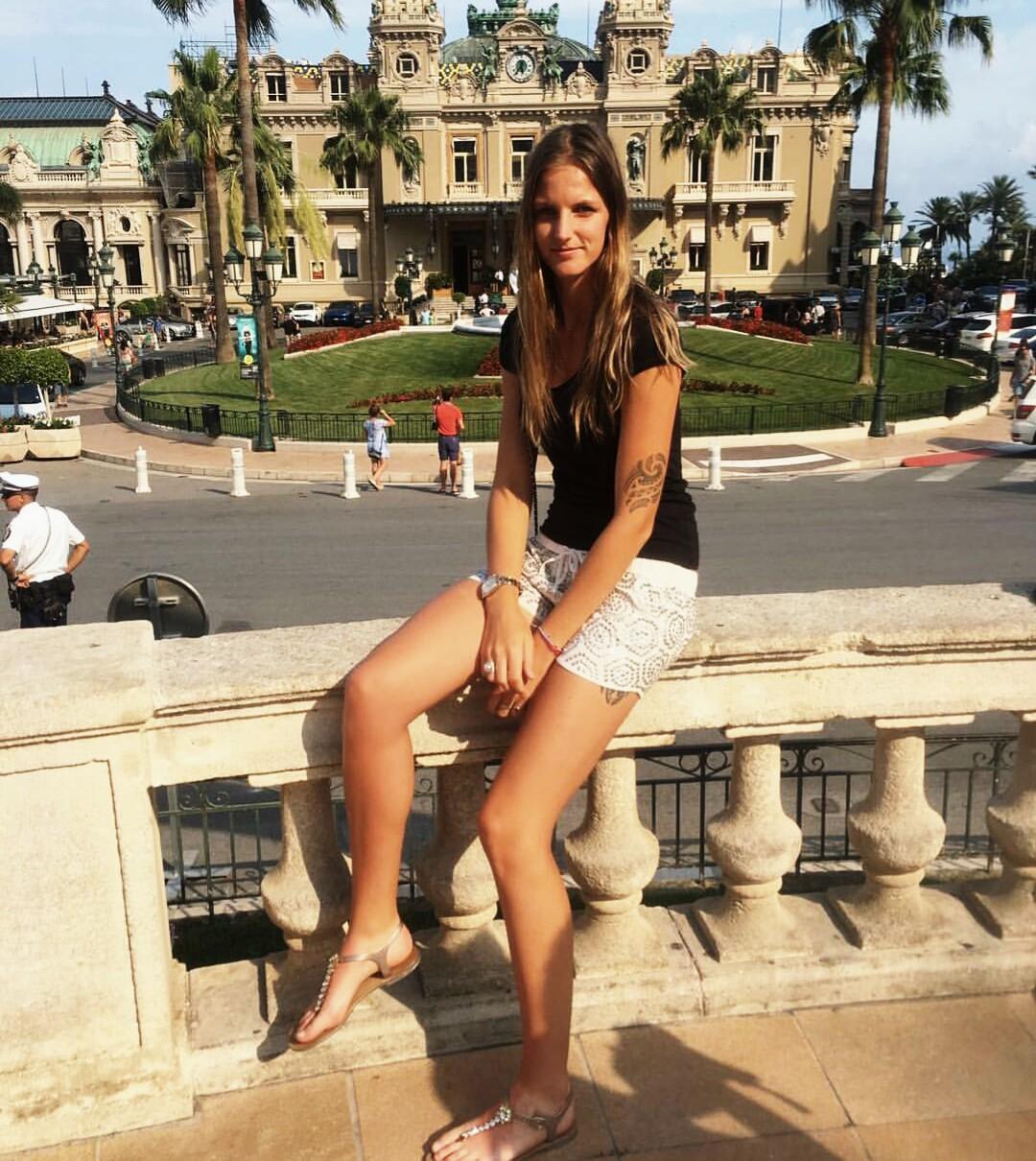 Каролина Плишкова в Монте-Карло