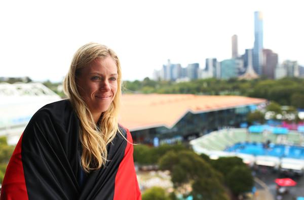 Анжелик Кербер дает интервью после победы на Открытом чемпионате Австралии-2016