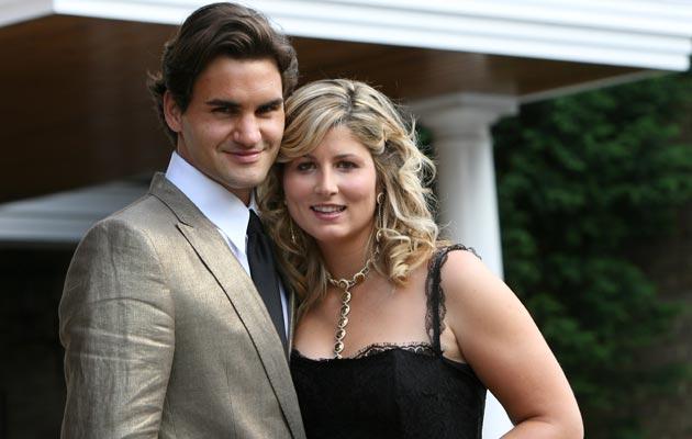 Федерер с женой Миркой