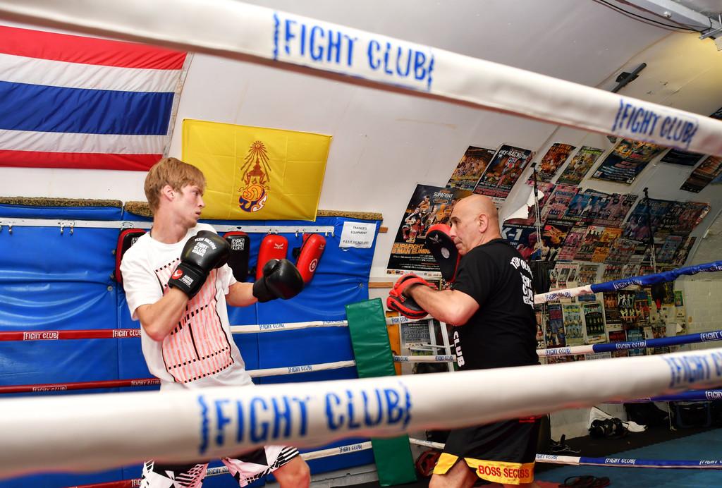 Андрей Рублев тренирует навыки бокса в Мельбурне
