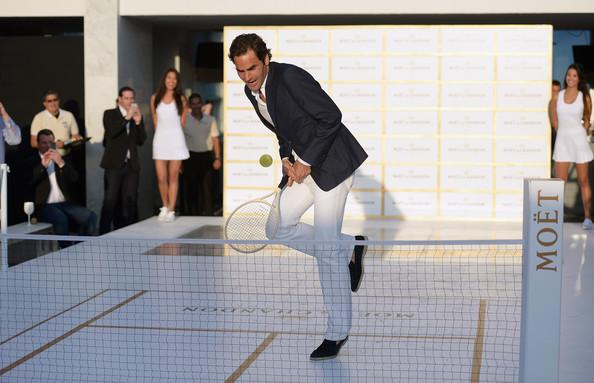Теннисист сотрудничает с брендом Moet Chandon