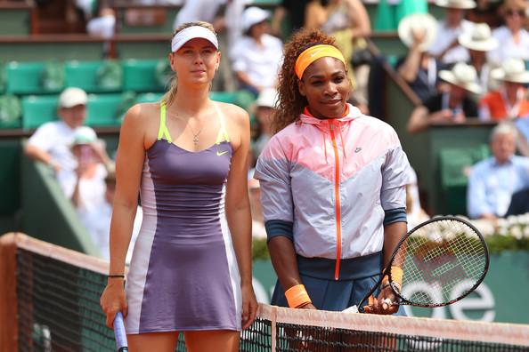 Мария Шарапова и Серена Уильямс в 2013 году