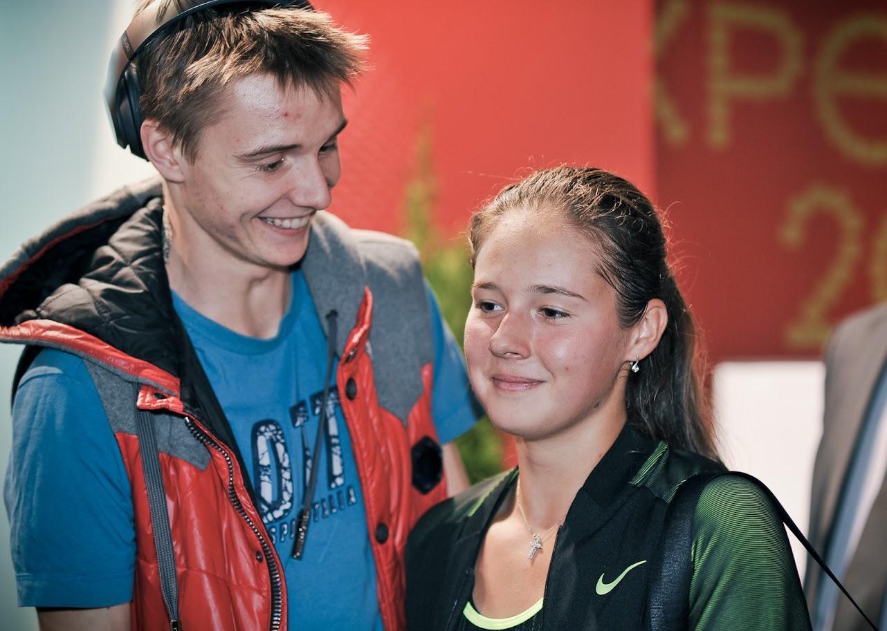 Дарья Касаткина с Александром Бубликом на вечеринке участников турнира