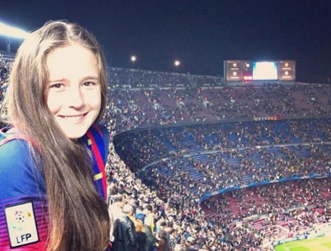Дарья Касаткина на стадионе