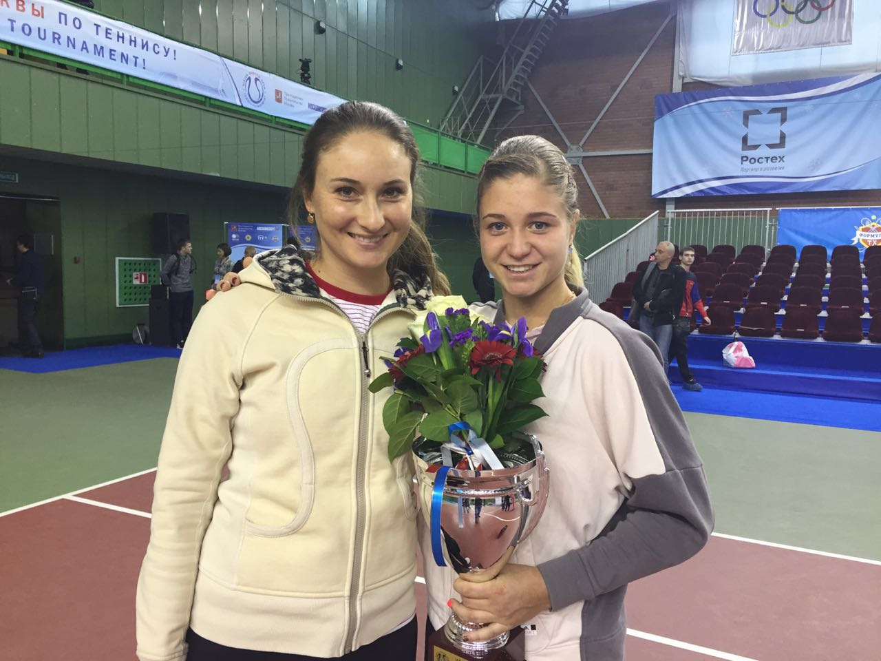 Фото: во время турнира Moscow Open с Ириной Хромачёвой