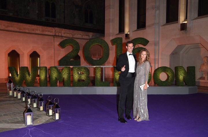 Энди Маррей с женой Ким Сирс