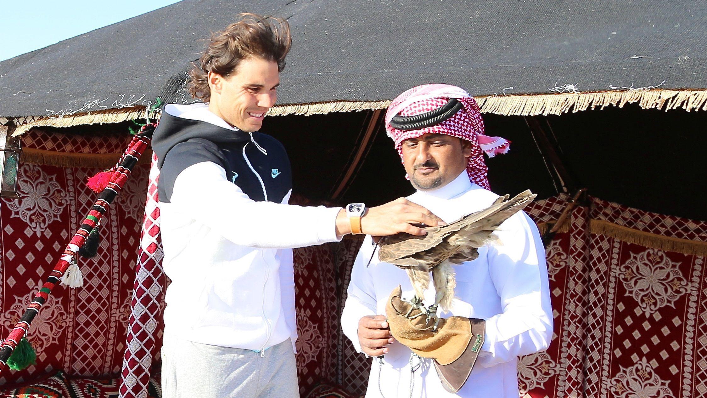 Фото: Рафаэль Надаль в Катаре / beIN