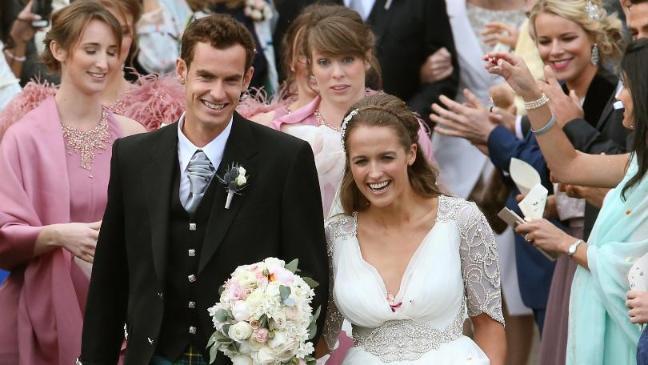 Фото: свадьба Энди Маррея и Ким Сирс / фото: ВТ Sports