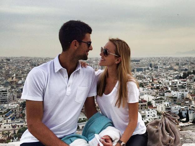 Новак Джокович и жена Елена Ристич / Фото: Twitter Новака Джоковича