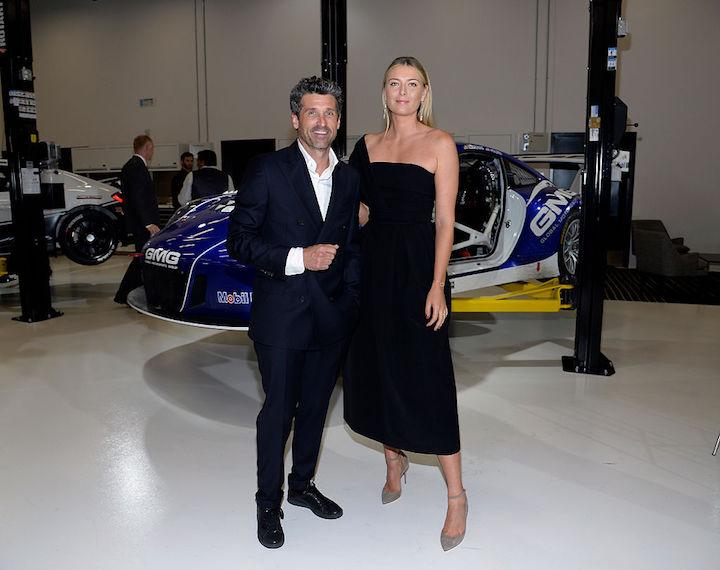 Мария Шарапова в платье Preen с ещё одним послом марки актёром Патриком Демпси