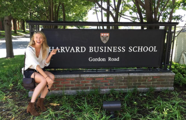 После начала мельдониевой дисквалификации поступила в Гарвардскую школу бизнеса на краткосрочную программу