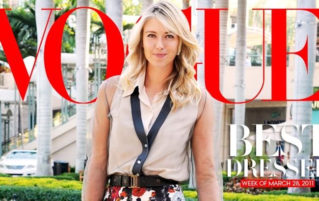 Чаще других теннисисток мелькает на обложках самых известных глянцевых журналов