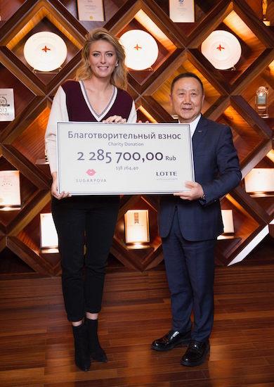 Мария Шарапова пожертвовала деньги от продаж Sugarpova