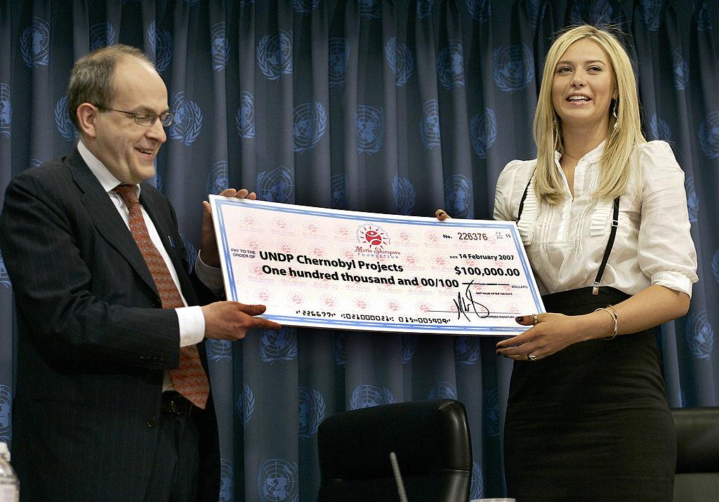Мария Шарапова пожертвовала деньги Чернобылю