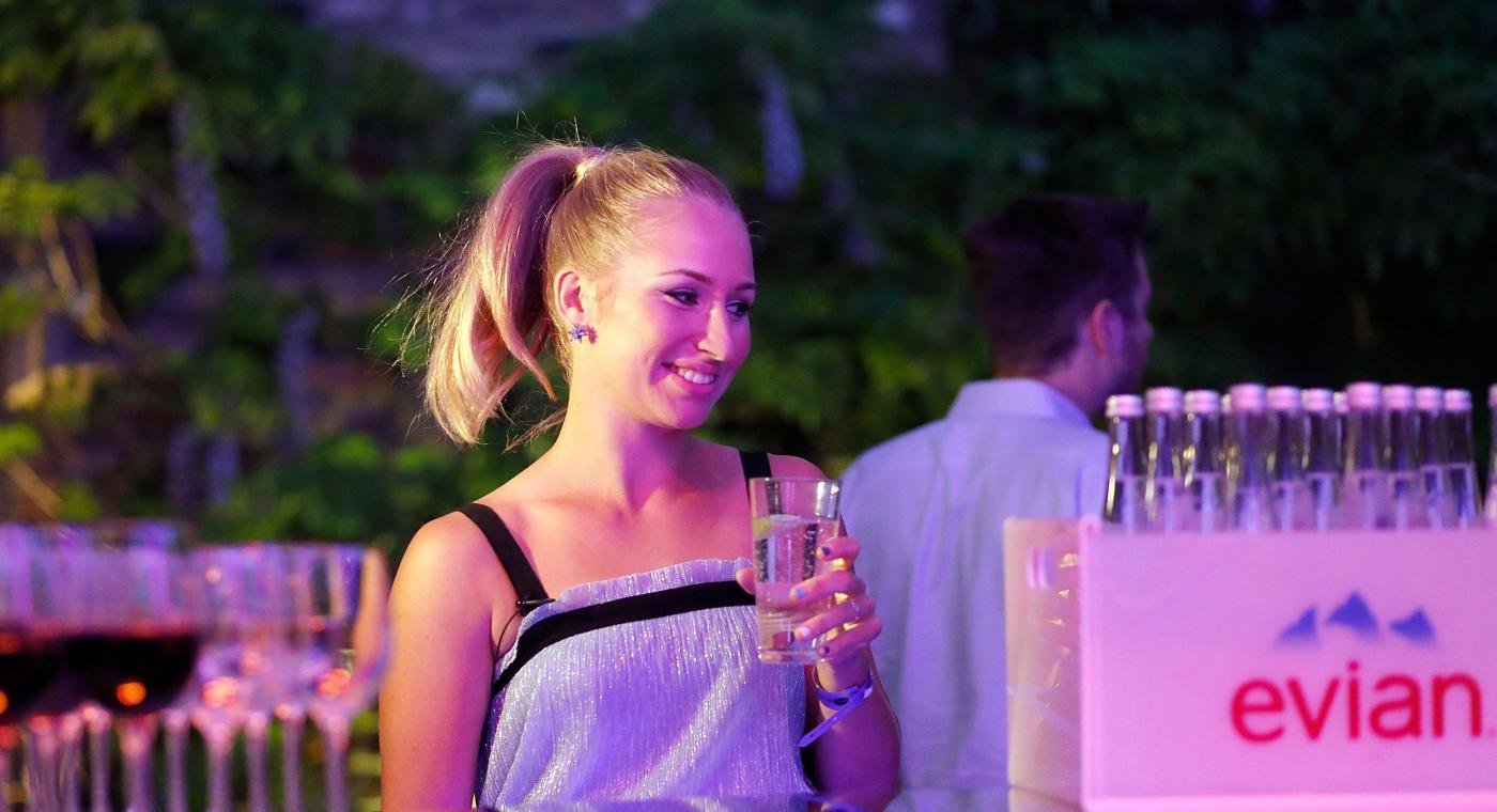 Дарья Гаврилова на гала-ужине в преддверии старта